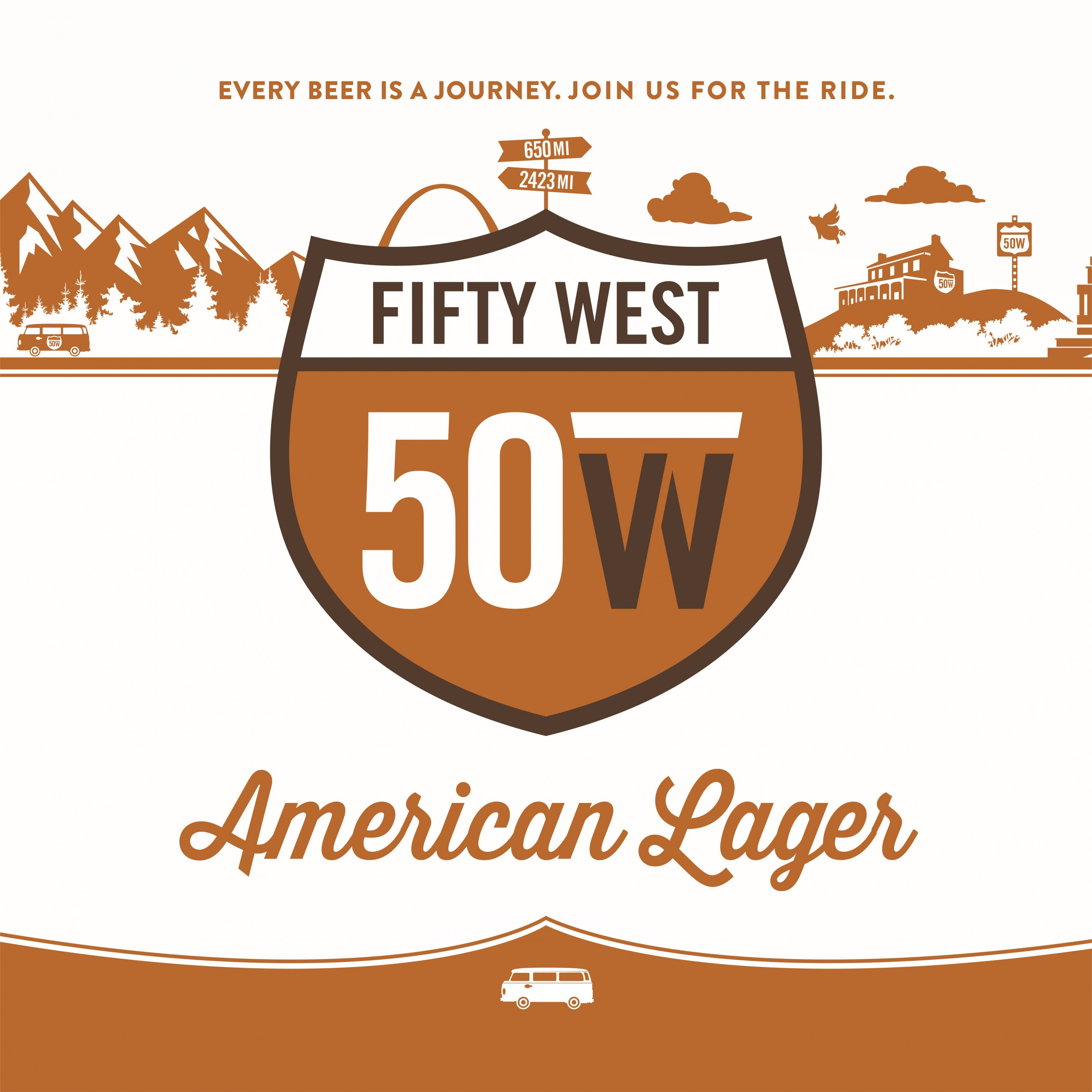 Fifty West American Lager