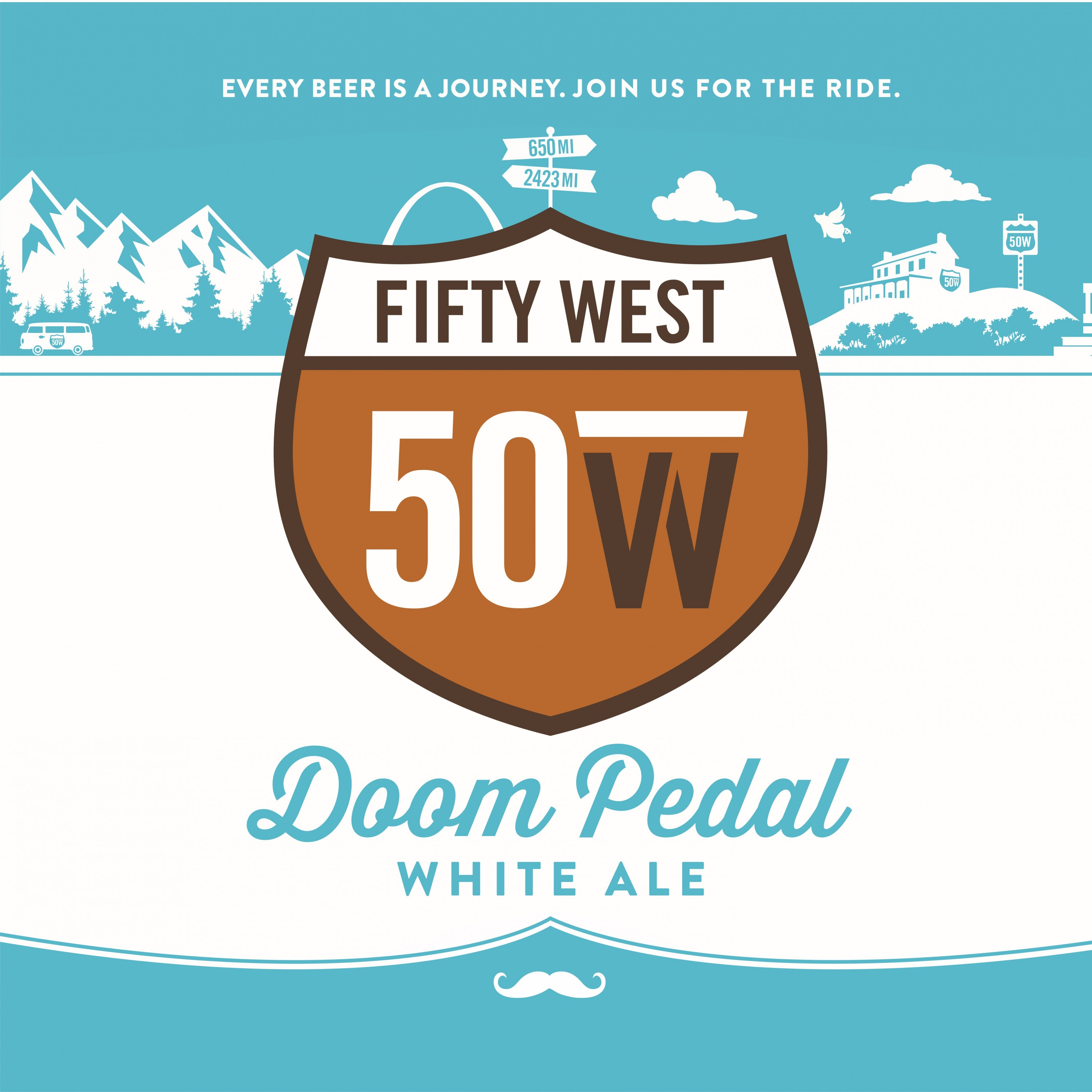 Fifty West Doom Pedal White Ale