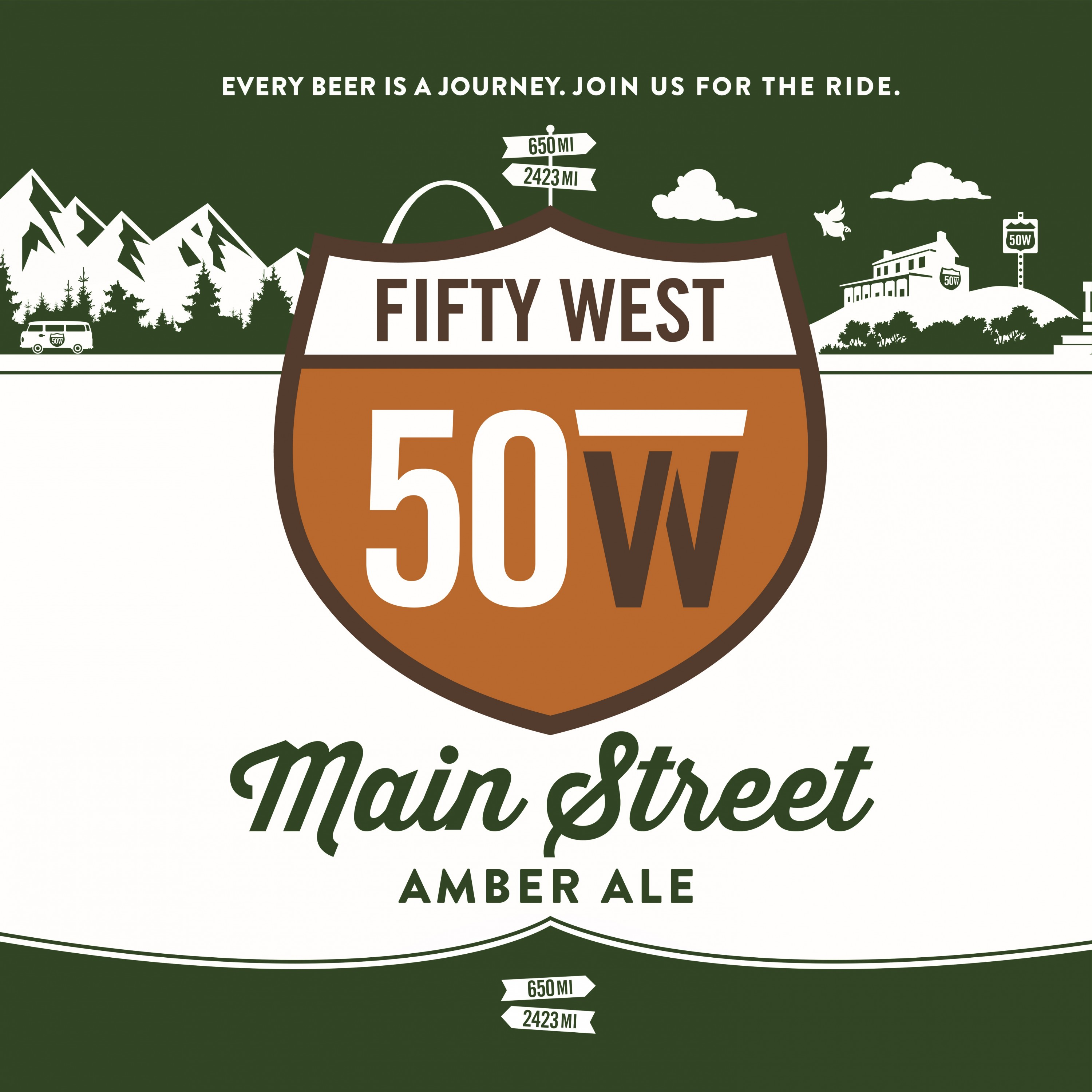 Fifty West Main Street Amber Ale